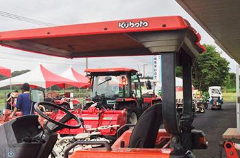 農業機械展示会風景