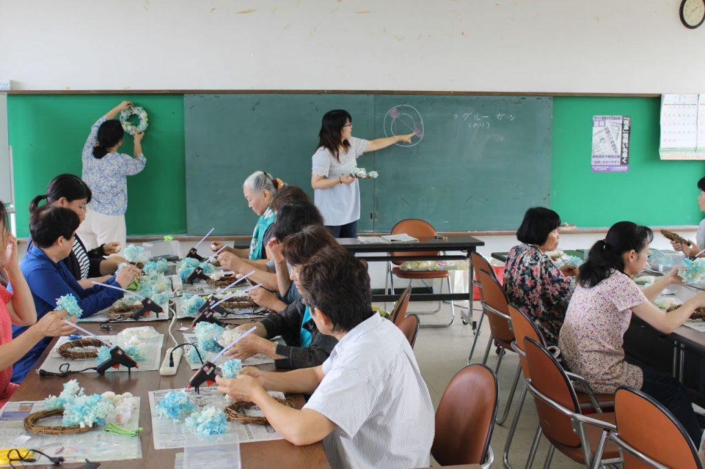 「なごみ」プリザーブドフラワー教室