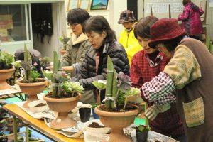 山川地区女性部ガーデニング教室