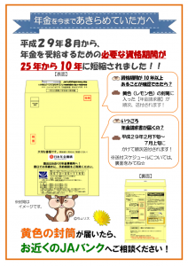 H29 黄色封筒チラシ(表)